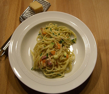 Spaghetti mit Gem�se