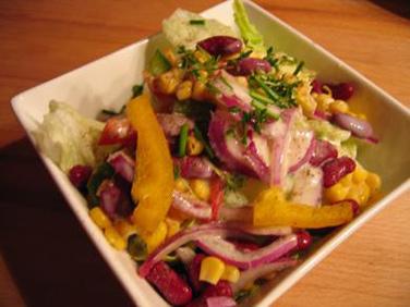 rezept insalata mista gemischter salat f r anf nger. Black Bedroom Furniture Sets. Home Design Ideas
